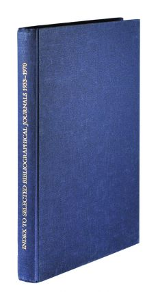 Index to Selected Bibliographical Journals 1933-1970
