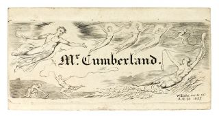 """Calling Card"" (sometimes called a bookplate) for George Cumberland. William Blake"