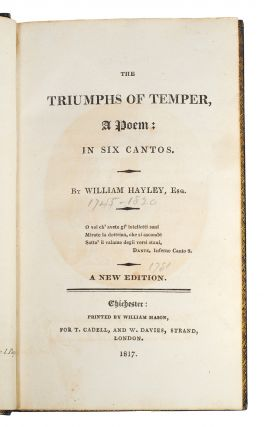 The Triumphs Of Temper. A Poem: in six Cantos. A New Edition.