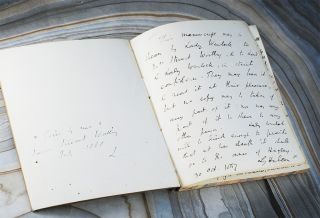 Manuscript notebook account of the last months of his wife Mary's life. George William...