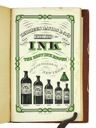The History of Ink, Including its Etymology, Chemistry, and Bibliography.