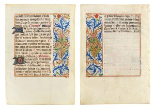 Mass for the dead. Illuminated manuscript leaf on vellum