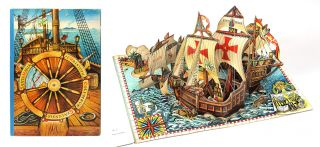 How Columbus Discovered America. Pop-up Book, Vojt ch Kuba ta