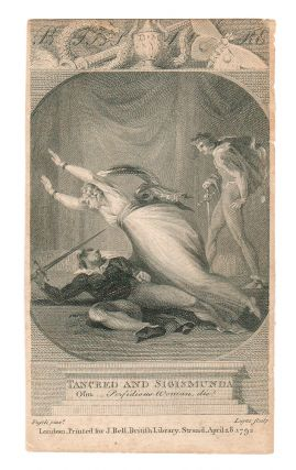 "illustration to] Bell's British Theater. [by John Bell] (Tancred and Sigismunda, ""Oh..."