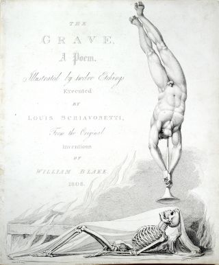 """The Grave, a Poem"": title-page to The Grave. William. Blair Blake, Robert, separate plate"