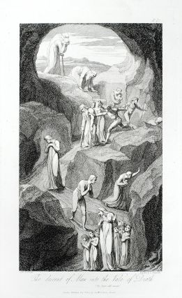 """The Descent of Man into the Vale of Death"": in The Grave. William. Blair Blake, Robert,..."