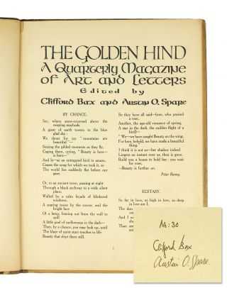 The Golden Hind A Quarterly Magazine of Art and Letters. Vol. 2 No. 8.