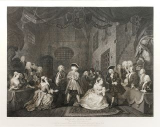 """The Beggar's Opera, Act III"": in The Original and Genuine Works of William Hogarth...."