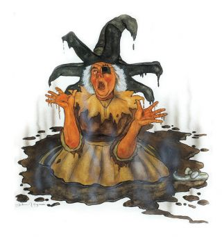Original watercolor of the Wicked Witch of the East. Michael Hague