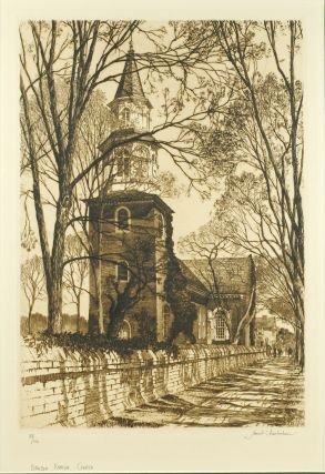 Bruton Parish Church, Williamsburg. Samuel Chamberlain