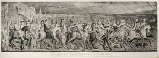 Chaucers Canterbury Pilgrims Painted in Fresco by William Blake & by him Engraved &...