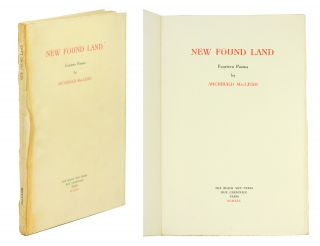New Found Land. Archibald MacLeish