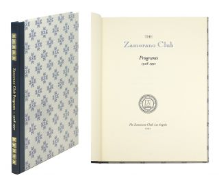 Zamorano Club Programs 1928- 1991