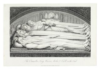 """The Counseller, King, Warrior, Mother & Child, in the tomb"": in The Grave. William. Blair..."