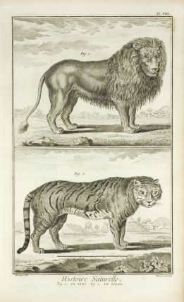 Histoire Naturelle, Regne Animal (The Animal Kingdom) Encyclopédie, ou dictionnaire raisonné des sciences, des arts et des métiers. Plates vol. 6