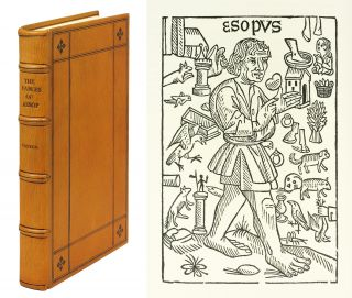 The History and Fables of Aesop, Translated and Printed by William Caxton, 1484. Reproduced in...