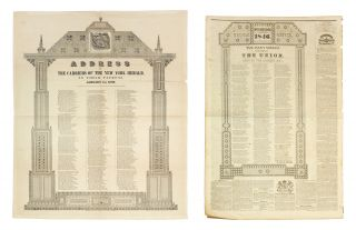 Address of the New York Herald, To Their Patrons. January 1st, 1846. [Together with a single...