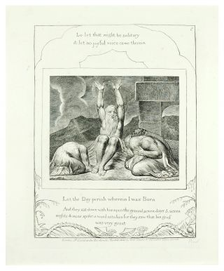 "Illustrations of the Book of Job. Plate #8 ""Let the Day Perish Wherein I was born."". William..."