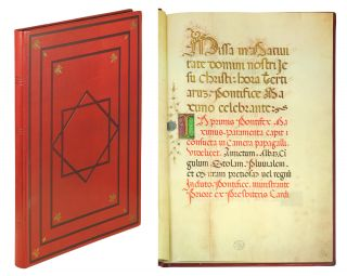 Missale Pontificis In Nativitate Domini. (The Christmas Missal of Pope Alexander VI (1492-1503
