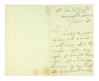 ALS to an unnamed recipient. Thomas Frognall Dibdin