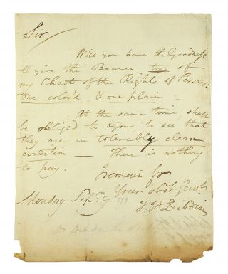 ALS to an unidentified correspondent. Thomas Frognall Dibdin