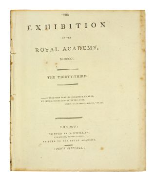 The Exhibition of the Royal Academy, M,DCCC,I. The Thirty-third