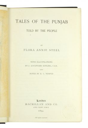 Tales of the Punjab Told by the People. With Illustrations by J. Lockwood Kipling and Notes by R. C. Temple.