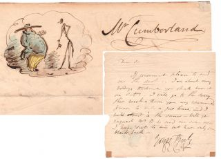 A.L.s. to Mr. Cumberland. Robert Cruikshank