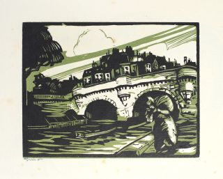 La Rive Gauche. A Group of Woodcuts and Drawings by Howard Simon with an Introduction by Elliot H. Paul.
